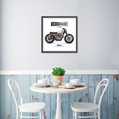 Ezposterprints - Street Custom Vintage Chopper - 16x16 ambiance display photo sample