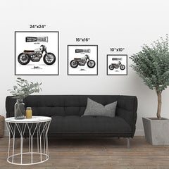 Ezposterprints - Street Custom Vintage Chopper ambiance display photo sample