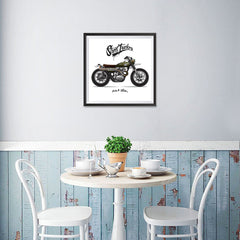 Ezposterprints - Street Tracker Vintage Chopper - 16x16 ambiance display photo sample