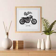 Ezposterprints - Street Tracker 2 Vintage Chopper - 12x12 ambiance display photo sample