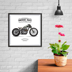 Ezposterprints - The Trouble Vintage Chopper - 10x10 ambiance display photo sample