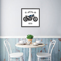 Ezposterprints - Two Wheels Forever Vintage Chopper - 16x16 ambiance display photo sample