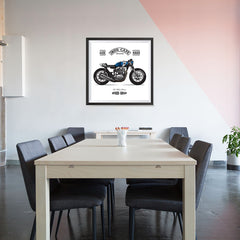Ezposterprints - Two Wheels Forever Vintage Chopper - 32x32 ambiance display photo sample