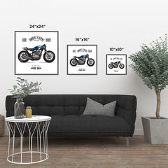 Ezposterprints - Two Wheels Forever Vintage Chopper ambiance display photo sample