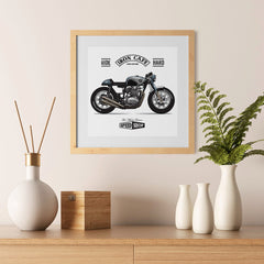 Ezposterprints - Two Wheels Forever 2 Vintage Chopper - 12x12 ambiance display photo sample