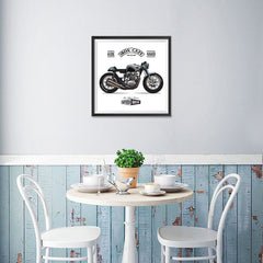 Ezposterprints - Two Wheels Forever 2 Vintage Chopper - 16x16 ambiance display photo sample