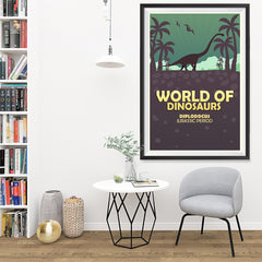 Ezposterprints - Diplodocus | World of Dinosaurs Posters - 32x48 ambiance display photo sample