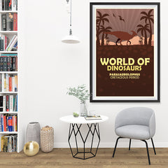 Ezposterprints - Parasaurolophus | World of Dinosaurs Posters - 32x48 ambiance display photo sample