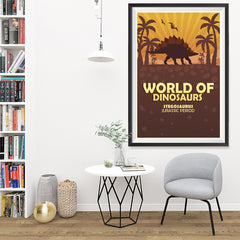 Ezposterprints - Stegosaurus | World of Dinosaurs Posters - 32x48 ambiance display photo sample
