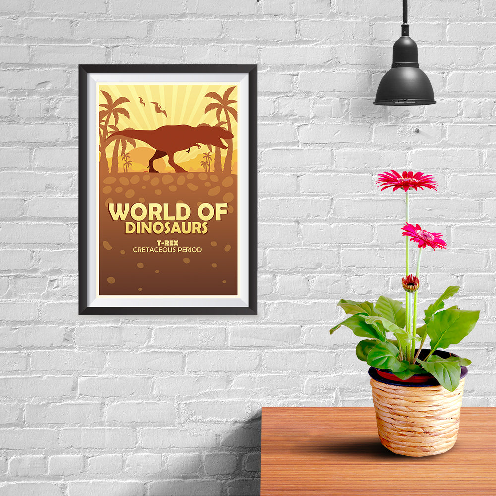Ezposterprints - T-Rex | World of Dinosaurs Posters - 08x12 ambiance display photo sample