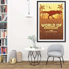 Ezposterprints - T-Rex | World of Dinosaurs Posters - 32x48 ambiance display photo sample