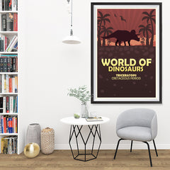Ezposterprints - Triceratops | World of Dinosaurs Posters - 32x48 ambiance display photo sample