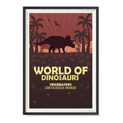 Ezposterprints - Triceratops | World of Dinosaurs Posters ambiance display photo sample