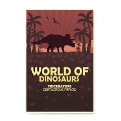 Ezposterprints - Triceratops | World of Dinosaurs Posters