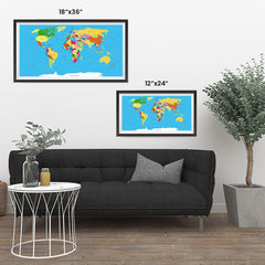 Ezposterprints - Classic World Map - Robinson projection ambiance display photo sample