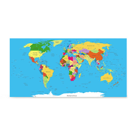 Ezposterprints - Classic World Map - Robinson projection