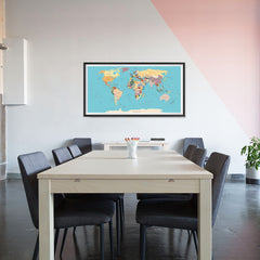 Ezposterprints - Vintage World Map - Robinson projection - 48x24 ambiance display photo sample