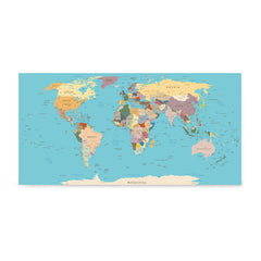 Ezposterprints - Vintage World Map - Robinson projection