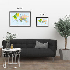 Ezposterprints - Classic World Map - Mercator projection ambiance display photo sample