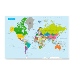 Ezposterprints - Vivid World Map - Mercator projection