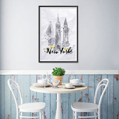 Ezposterprints - New York City Watercolor Poster - 12x18 ambiance display photo sample