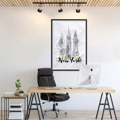 Ezposterprints - New York City Watercolor Poster - 24x36 ambiance display photo sample