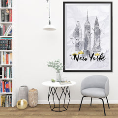 Ezposterprints - New York City Watercolor Poster - 32x48 ambiance display photo sample