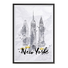Ezposterprints - New York City Watercolor Poster ambiance display photo sample
