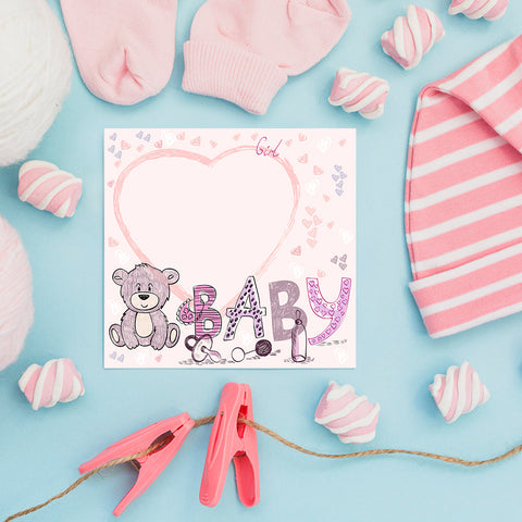 Baby Bear for Girls, Baby Shower Decoration Poster ambiance display photo sample