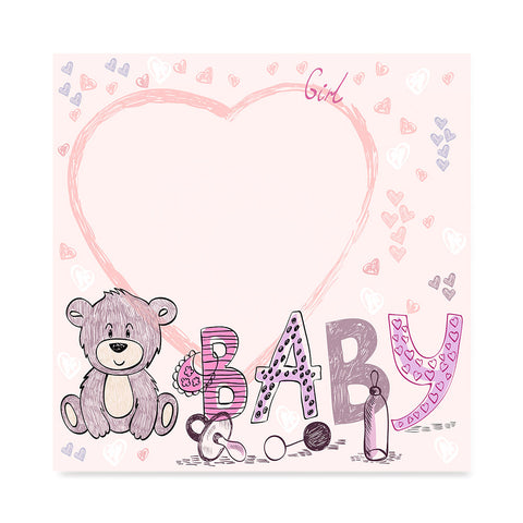 High quality Baby Bear for Girls, Baby Shower Decoration Poster poster prints