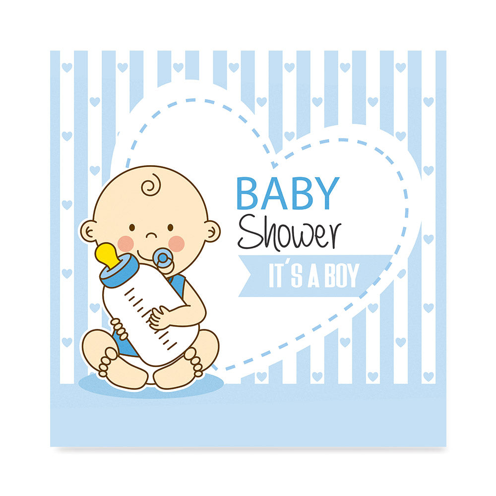 Baby Elephant For Boys, Baby Shower Decoration Poster