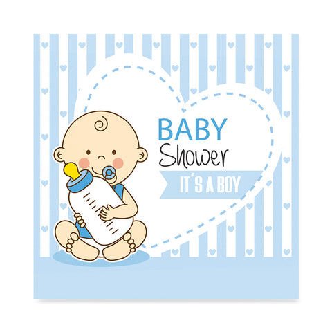 High quality Baby Boy with Bottle, Baby Shower Decoration Poster poster prints