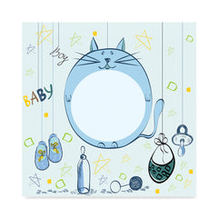 High quality Baby Cat for Boys, Baby Shower Decoration Poster poster prints