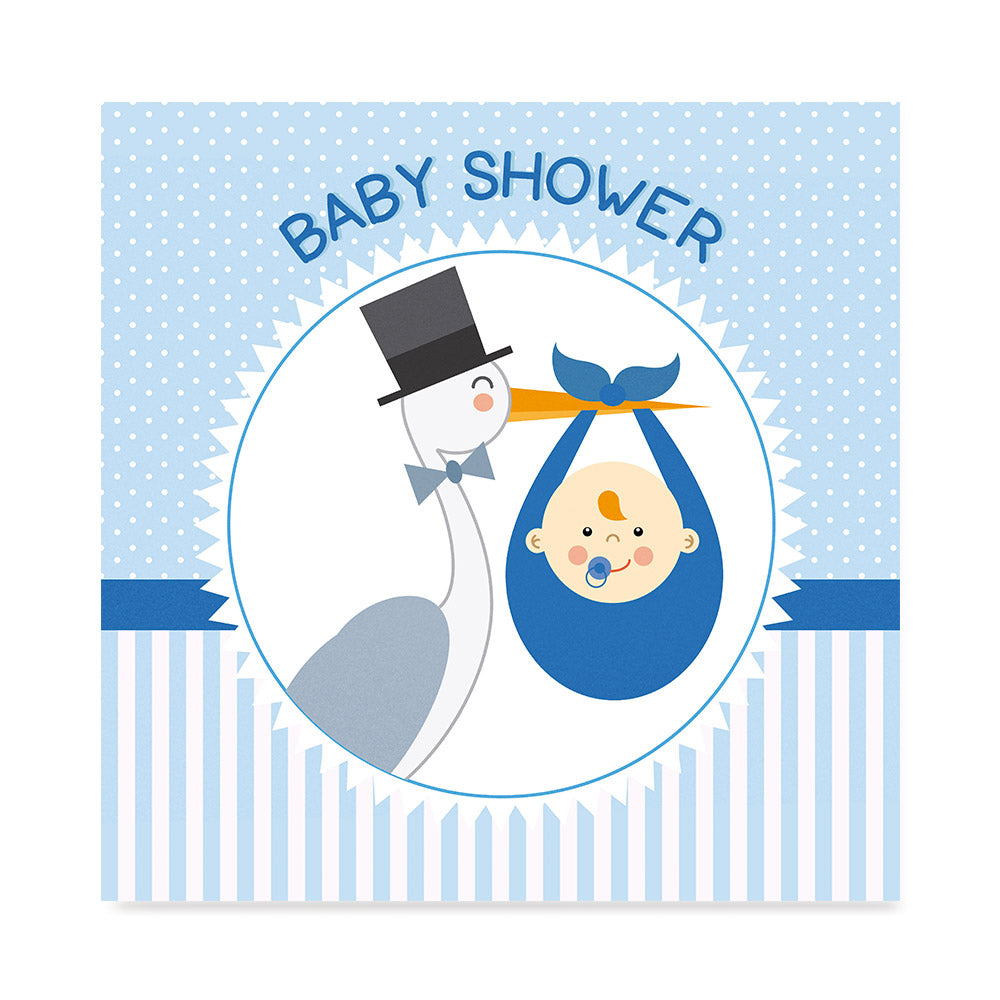 High quality The Stork Brings a Baby Boy, Baby Shower Decoration Poster poster prints