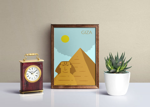 World Cities Retro Posters: Giza ambiance display photo sample