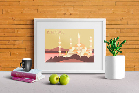 World Cities Retro Posters: Istanbul ambiance display photo sample