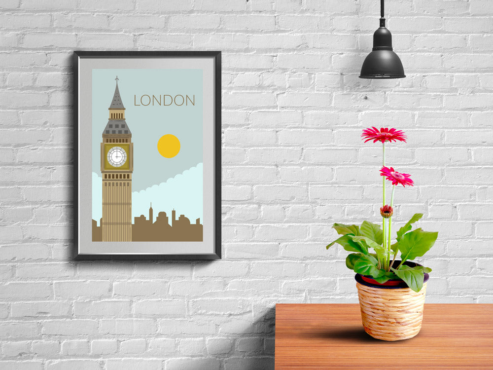 World Cities Retro Posters: London ambiance display photo sample