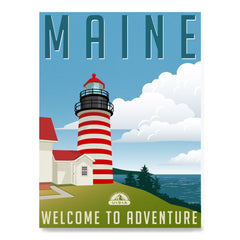 Ezposterprints - Retro Travel Poster Series: MAINE,US