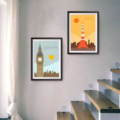 Ezposterprints - World Cities Retro Posters sample 2-poster design