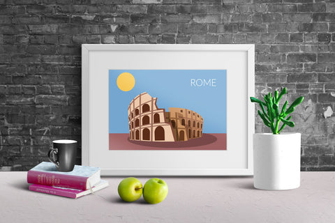 World Cities Retro Posters: Rome ambiance display photo sample