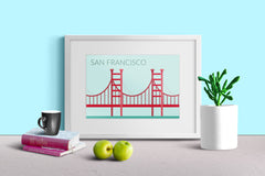 World Cities Retro Posters: San Francisco ambiance display photo sample