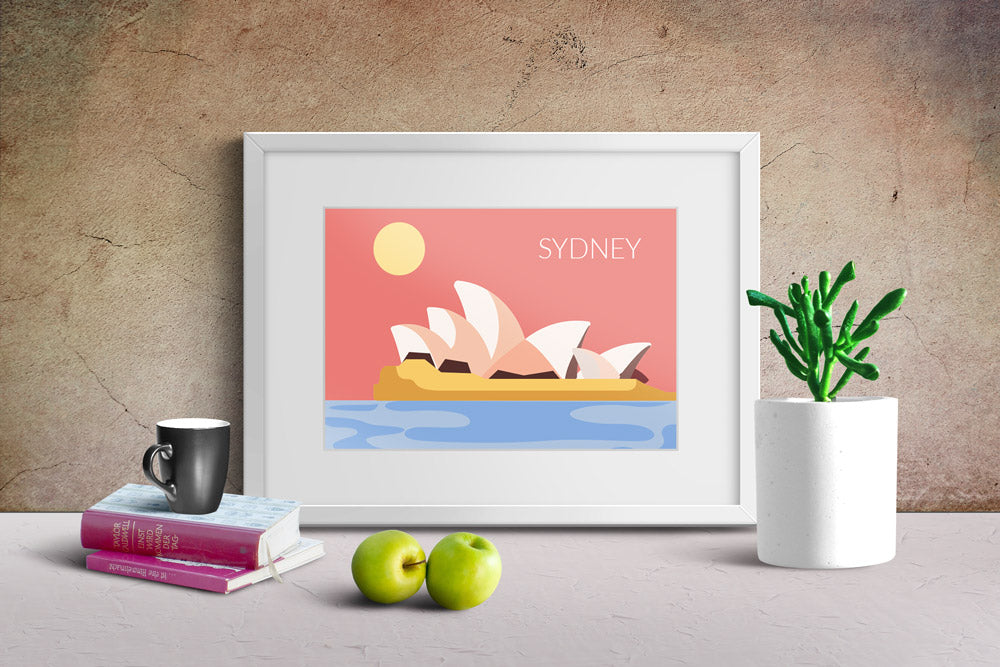 World Cities Retro Posters: Sydney ambiance display photo sample
