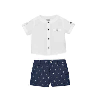 Woven Newborn Shirt and Short