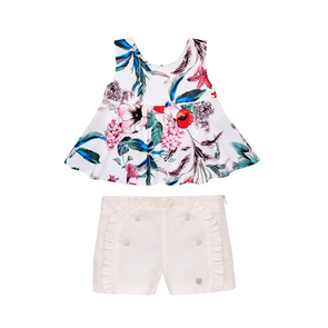 Woven Infant Girl Blouse and Short