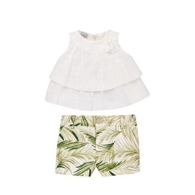 Woven Newborn Short-Dress and Short