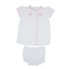 Pinpoint Layette Knit Set- Bunnies