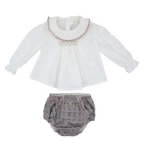 Woven Blouse and Woven Bloomers Set