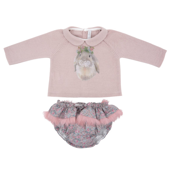 Knit Sweater and Woven Bloomers 2 Piece Set