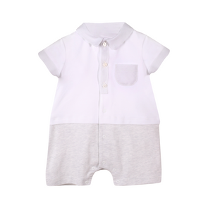 Baby Boy Romper-Knit