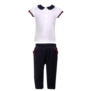 Girl Polo and Pants Knit